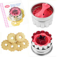 Cookie Plunger Cutter Flower Biscuit Bake Mold Mould Fondant Stainless Steel