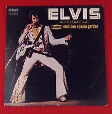 ELVIS AS RECORDED AT MADISON SQUARE GARDEN  LP ALBUM