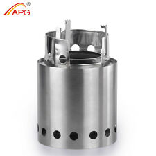 Portable Wood Burning Camp Stove Foldable Solidified Achol Stove Backpacking APG