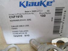 100 cosse cuivre etamé 16mm² - m 10 , klauke