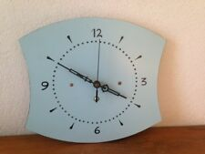 Horloge pendule formica  bleue   VINTAGE     années  50's 60's 70 //