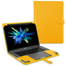 "TETDED Premium Leather Case for Apple MacBook Pro 15"" Touch Bar 2017 LC Yellow"