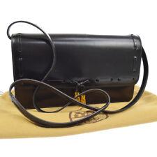 Authentic Hermes 1986's винтажная сумка через плечо черный ящик голени K08224g