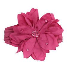 NEW Koala Kids Girls Pink Flower Headwrap with Rhinestone Detail