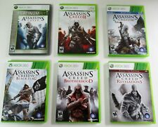 ASSASSIN'S CREED (6) GAME LOT- Microsoft XBOX 360   COMPLETE w/Manual/Inserts