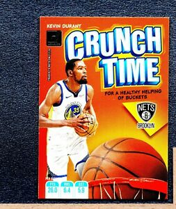 2019-20 Donruss Crunch Time #8 Kevin Durant Brooklyn Nets HTV 276