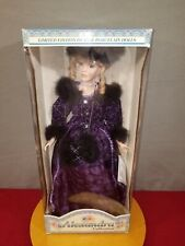 Limited Edition of Fine Porcelain Dolls By Alexandra Hollylane Coa 3419 in Box