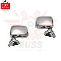 New Left & Right Side Manual Mirror Chrome Set of 2 For 1989-1995 Toyota Pickup