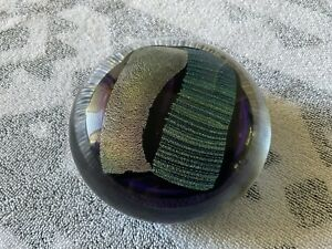 Vintage Murano Art Glass Paperweight Signed