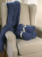Throw Rug Soft Touch Throw Blanket Decorative Bedding Blanket 127x150cms - BLUE