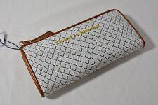 NWT! Dooney & Bourke Claremont Zip Around Leather Wallet in Fog .