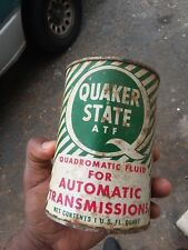 1 Vintage Quaker State ~ ATF Dexron ll Automatic Transmission Fluid - Full Can