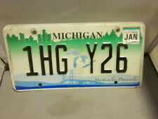 MICHIGAN LICENSE PLATE # 1HG Y26 EXPIRED OVER 3 YEARS SPECTACULAR PENINSULAS