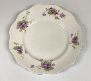 """C. P. Co. DIXIE 12"""" Luncheon Plates~Soft Violets"""
