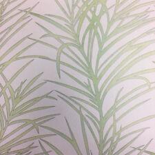 Flower Leaves Wallpaper Palm Tree Tropical White Green Paste Wall Vinyl Erismann