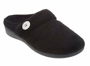 Vionic Sadie Women's Adjustable Strap Orthotic Slippers Black - 10