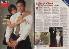 Coupure de presse Clipping 1996 Teri Hatcher & Dean Cain Loïs & Clark (2 pages)