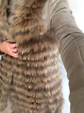 NEU Murmasky raccoon Waschbär NEU Weste fur vest Fellweste Pelzweste fell XS 34