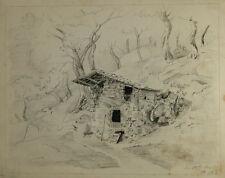 M.Fehr 1855 - verfallenes Gebäude, Einsiedelei