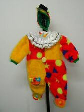 Vestito Costume Carnevale CHICCO Taglia 00 bambini 6/9 mesi pagliaccio clown C15