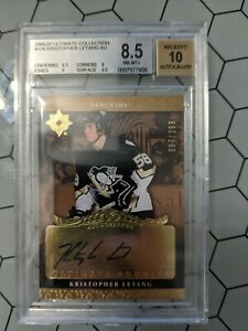 Kris Letang Ultimate Rookie, Ultimate Collection Auto BGS 8.5 / Au 10 /299