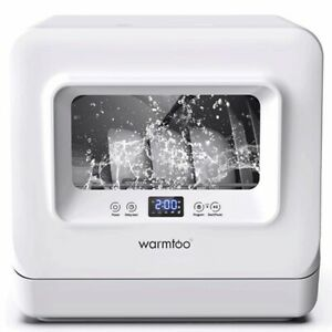 5-In-1 Portable Countertop Dishwasher Compact White Dishwashers 5.5L  /u