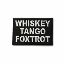 Embroidered Whiskey Tango Foxtrot WTF Sew or Iron on Patch Biker Patch