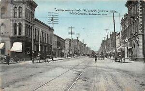 H70/ Atchison Kansas Postcard c1910 Commercial Street Stores 4th  5