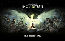 Game Poster Art Silk Fabric for Dragon Age Inquisition Characters 21x13 Decor 11