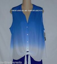 I.N.C INTERNATIONAL CONCEPTS – BLOUSE – TIE-DYE –BLUE to WHITE –SIZE 16 -NWT $60
