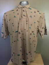 Reebok Golf Vintage Unique Pattern Rare Mens 2XL POLO shirt F7