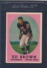 1958 Topps #123 Ed Brown Bears Ex 58T123-72316-1