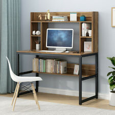 Wooden Computer Desk Writing Desk PC Latop Table Gaming Workstation w/shelf