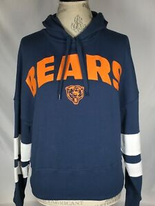 Chicago Bears NFL Ladies Junk Food Blue Pullover Hoodie Sweater Women's SMALL
