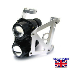 Projector Headlight Dual Stacked for Streetfighter or Cafe Racer 52/53mm Forks