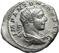 ELAGABALUS  221AD Rome Rare Genuine Authentic Silver Roman Coin JUPITER i64682