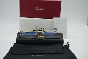 Cartier C Decor Vintage Optical Rimless Platinum Eyeglasses Frames