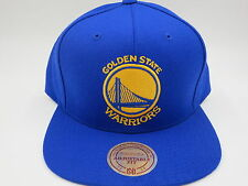 Golden State Warriors Wool Solid Blue Mitchell & Ness NBA Retro Snapback Hat Cap