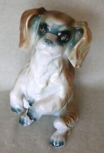 "Vintage porcelain 8"" figurine SKYE TERRIER SITTING by Iris-Cluj, Romania MINT"