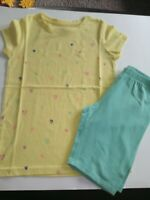 Circo Girls Summer Outfit Size 7/8 Yellow Hearts Mint green cute pink blue