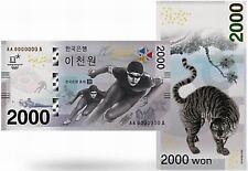 Olympische Winterspiele PyeongChan 2018 Banknote Schein Zahlungsmittel Südkorea