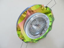 MULTICOLOUR GLASS CHROME RECESSED DECORATIVE SPOTLIGHT DOWNLIGHT SURROUND LED