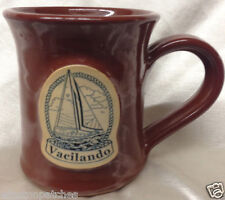 DENEEN POTTERY VACILANDO BROWN MUG 12 OZ ST PAUL SAILBOAT HESITANTLY SHIP BOAT