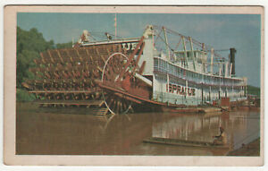 PADDLE STEAMER SPRAGUE Card MISSISSIPPI RIVER Dubuque Iowa Towboat TOW Boat