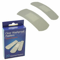 8 Boxes of Latex Free Clear Washproof Sterile 20 Assorted Wound Cut Plasters