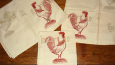 Williams-Sonoma Farmhouse Rooster 4 Placemats & 4 Matching Napkins Red Off-White