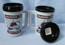 COLORADO AVALANCHE 22 OZ THERMAL HOT / COLD MUG W/ LID CLOSEOUT FREE SHIPPING