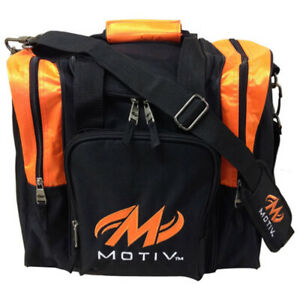 Motiv Ascent Single Tote Black/Orange Bowling Bag