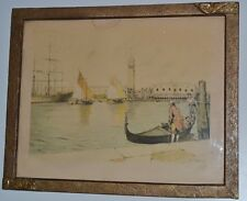 Vintage Engraving BOAT by French Cibet -  Free P&P [PL2203]