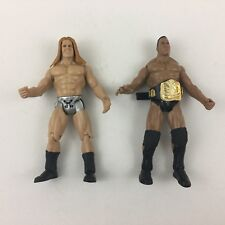 WWE WWF HHH Triple H The Rock Lot of 2 w/ Belt Jakks Pacific Action Figures